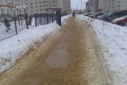 Подсыпку тротуаров проводят в Артёмовском городском округе